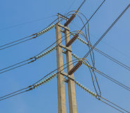 High-voltage electrical insulator electric line Stock Images