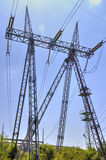 High voltage electrical overhead line Royalty Free Stock Photography