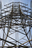 High Voltage Electrical Pole Structure.  Royalty Free Stock Photos