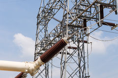 High voltage electrical power insulators Royalty Free Stock Photography
