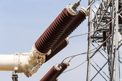 High voltage electrical power insulators Stock Photography