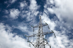 High voltage electrical towers Stock Photos