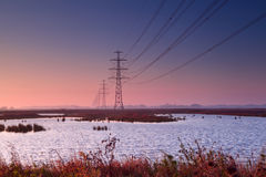 High-voltage electricity line Stock Photography