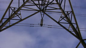 High voltage electricity line detail stock footage