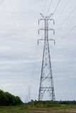 High voltage electricity pillars Royalty Free Stock Photos