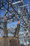 High voltage electricity plant Royalty Free Stock Photography