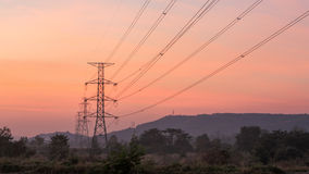 High voltage electricity poles Stock Photos