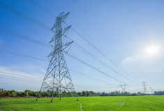 High voltage electricity poles Royalty Free Stock Image
