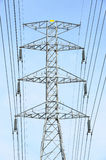 High voltage electricity post Royalty Free Stock Photography