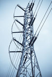 High voltage. The high voltage electricity post in thailand royalty free stock photography