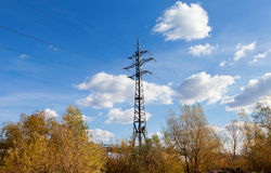 High voltage electricity pylon Royalty Free Stock Photography