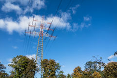High voltage electricity pylon Stock Image