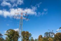 High voltage electricity pylon Stock Image