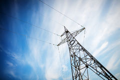 High voltage electricity pylon Stock Photo