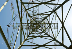 A high voltage electricity pylon Stock Photography