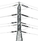 Isolated Electricity Pylon Stock Photo