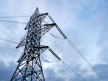 High voltage electricity pylon national grid power Royalty Free Stock Images