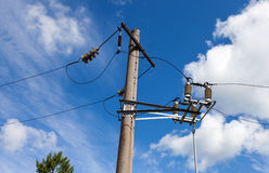 High voltage electricity pylon Royalty Free Stock Images
