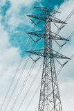 High voltage electricity pylon tower Royalty Free Stock Images
