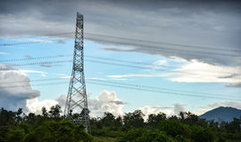 High voltage electricity pylons Royalty Free Stock Image