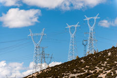 High-voltage electricity pylons Royalty Free Stock Photography