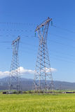 High voltage electricity pylons Royalty Free Stock Photography