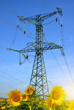 High voltage electricity pylons Royalty Free Stock Photo