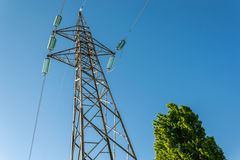 High-voltage electricity pylons Stock Image