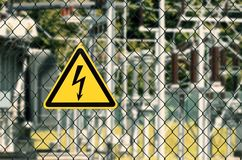 High voltage electricity Symbol stock image