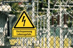 High voltage electricity Symbol royalty free stock images
