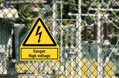 High voltage electricity Symbol royalty free stock photography