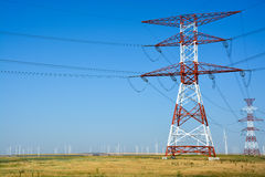 High voltage electricity tower Royalty Free Stock Photography
