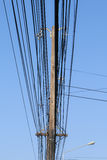High voltage equipment on an electric pole. Stock Photography