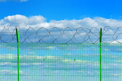 High voltage fence Stock Photography