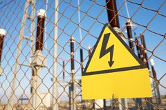 High voltage hazard royalty free stock images