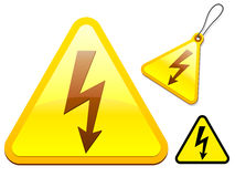 High voltage icon collection Royalty Free Stock Photo