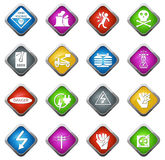 High voltage icons set Stock Images