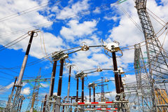 High-voltage industrial electric equipment Royalty Free Stock Photo