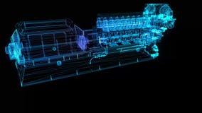 High voltage industrial standby diesel generator at a power generation. Gas-engine. 4k UHD 3840x2160 rendering