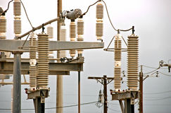 High voltage insulators Stock Images