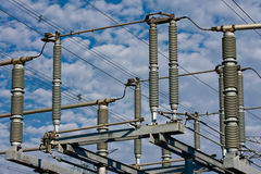 High Voltage Insulators Stock Photo