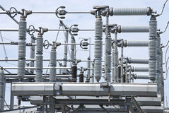 High Voltage Insulators Royalty Free Stock Images