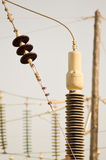 High-voltage insulators in a thermal Royalty Free Stock Photography