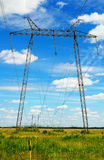 High voltage line Royalty Free Stock Images