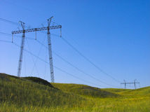 HIGH-VOLTAGE LINE. Stock Photos