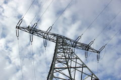 High Voltage Line From Below Stock Image