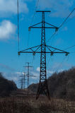 High voltage line Stock Image