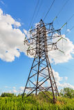 High voltage line and blue sky Royalty Free Stock Photography