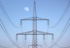 High Voltage Line Centered Royalty Free Stock Photography
