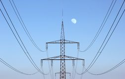 High Voltage Line Centered Royalty Free Stock Image